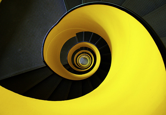 yellow-spiral-staircase